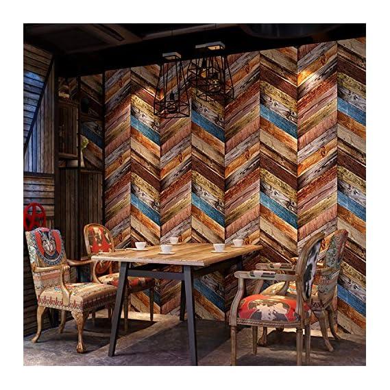 akadeco self Adhesive Decorative multipupose Shade of Multicolor Bricks Waterproof PVC Wallpaper (1 roll Size - 330X45cm)