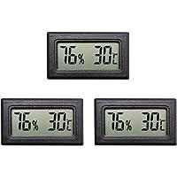 Thlevel Mini LCD Termometri Igrometri Digitali Tester di Temperatura e Umidita  39  Interna  3 PCS