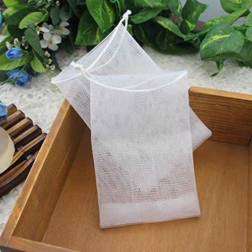 Gaeruite Seifensäckchen für Seifen und Seifenreste,Seifennetz, Seifensparer, Seife Mesh-Tasche handgemachte Seife Bubble Foam Net Maker, Bad Perlen Seife Schwamm Net Bag Körperpflege (10 pcs)
