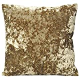 Paoletti Roma Crushed Velvet Cushion Cover, Oyster, 50 x 50 Cm
