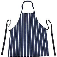 Aprons Kitchen/Chefs Apron Striped Apron :100% Cotton Navy & White Unisex Apron- Butchers Style. For Home Kitchen…