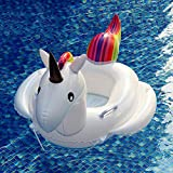 FLYBOO Baby Swimming Float Unicorn Inflatable Seat Boat Kids Summer Fun Outdoor Pool Toys (74x72x70cm)