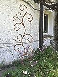 Rankgitter Rankhilfe Floral Rankstab Rankgerüst Metall Eisen Rost Deko 160cm hoch