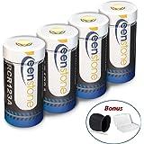 4PCS RCR123A Batterie Rechargeable pour Arlo Caméra,Keenstone Batterie Li-ION 3.7V 750mAh Idéal pour Arlo Caméra VMS3030/3130/3230/3330/3430 avec Housse en Silicone