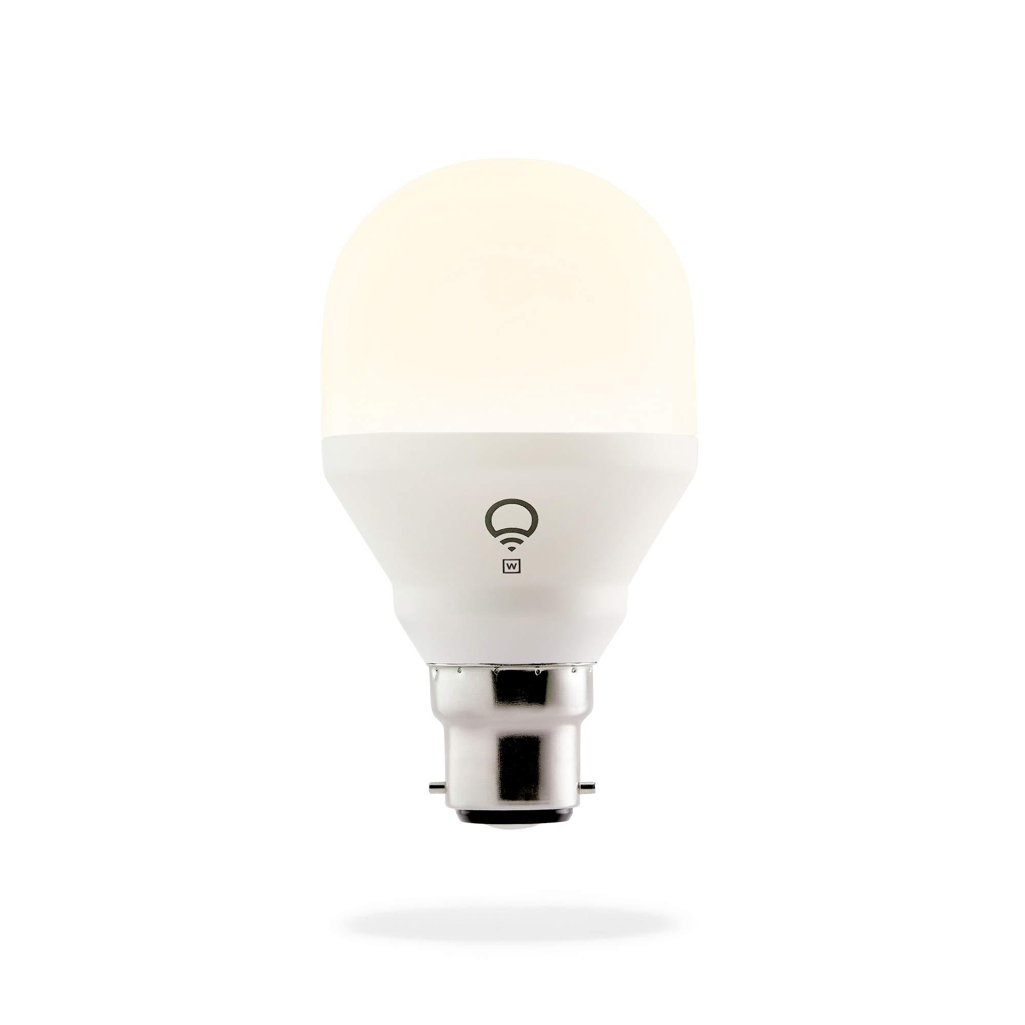 LIFX Mini White (B22) Ampoule smart LED connectable Wi-Fi, ajustable, multicolore, ajustable, pas de hub requis, fonctionne avec Alexa, Apple HomeKit et Google Assistant [Classe énergétique A+]