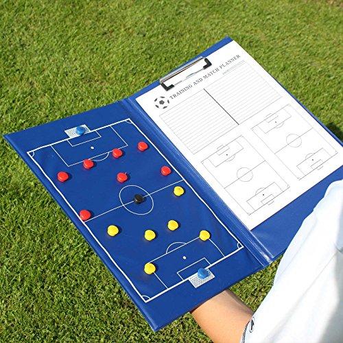 Taktik-Mappe, für Trainer und Betreuer, blau