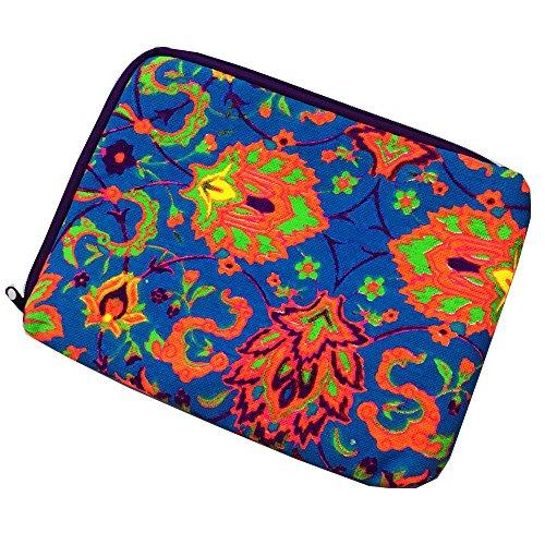 20,3cm Canvas Stoff Laptop Sleeve Schutzhülle Tasche Cover für iPad Air iPad 234Air 2iPad Pro 9,7 Blau Blau -