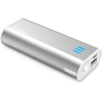 Jackery Bar Batteria Esterna Portatile da 6000mAh - Power Bank Tascabile Ultra compatto con Tecnologia SmartFit per iPhone, iPad, Samsung, Nexus, HTC e altri (Argento)