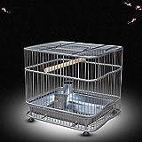 Liuyu · Casa di Vita Gabbia per Bagno Starling Birdcage in Acciaio Inossidabile (Dimensioni : Trumpet 27 * 13 * 20cm)