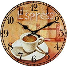 Perla PD Diseño reloj de pared Reloj de cocina vintage diseño Espresso aprox. 28cm de diámetro