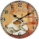 perla pd design Glaswanduhr Quarzuhr Vintage Design Espresso ca. Ø 30 cm