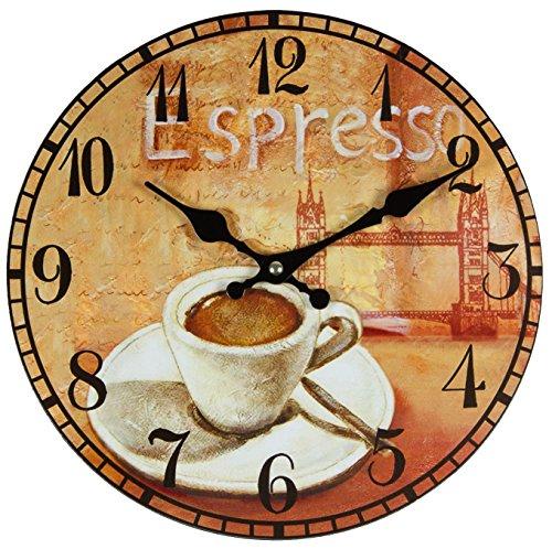 Reloj de pared, de cocina, diseño retro, diámetro aprox. 28cm, de Perla...