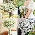 Yistu Künstliche Schleierkraut Blüte Fake Seide Hochzeit Party Bouquet Home Decor von Yistu - Du und dein Garten