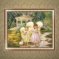 Preisvergleich für logres Cute Little Angels DIY 5D Diamant Gemälde Kreuzstich Kunstharz Stickerei Craft Home Decor