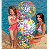 Heer Lively Print 24 Inch Inflatable Beach Ball - Water Toys Games (Colors And Design May Vary)
