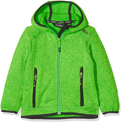 CMP Forro Polar Juvenil Knitted Fix Hood, Todo el año, Niños, Color Gecko-Menta, tamaño 92