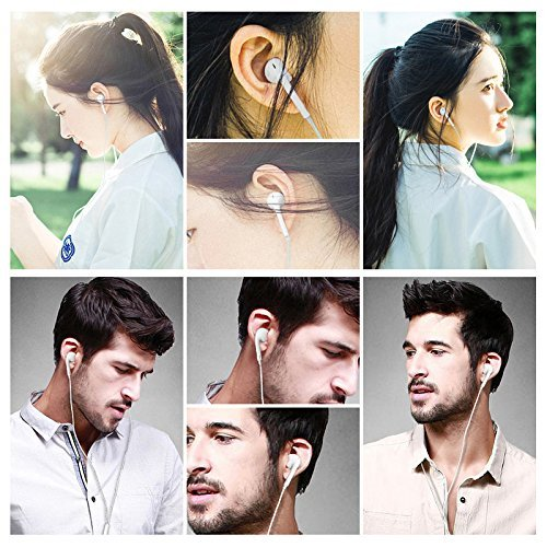 Hi-Fi Plus in-Ear Earphones Compatible for iPhone 4/4s/ 5/5s/ 6/6s/6plus and All Android Smartphones with 3.5 mm Jack and Mic Image 5