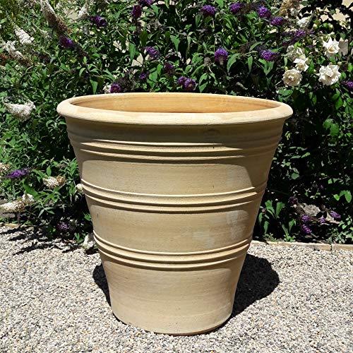 Haute Qualité Pot de fleurs en terre cuite 70 cm frostestes Pot véritable pour livre Fleurs Jardin Terrasse Décoration, Yucca