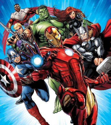 The Avengers Marvel Panorama Papier Peint dècoration pour la Chambre d'Enfants 180x202cm