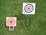 Feld Zeroing Target Ständer Halfter für Luftgewehr, Pistole oder Gewehr - 3 Positionen, Licht & kompakt - Passungen in ihrer Überzug tasche. Boden Spitzen faltbar in Halterung