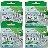 4x Wilkinson Intuition Naturals Sensitiv Care 3cuchillas de afeitar con jabón y Aloe