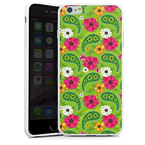 Apple iPhone X Silikon Hülle Case Schutzhülle Blumen Muster Bunt Silikon Case weiß