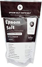 100% Pure & Natural Epsom Bath Salt (Magnesium Sulphate) Relaxation and Pain Relief, 400 Gms