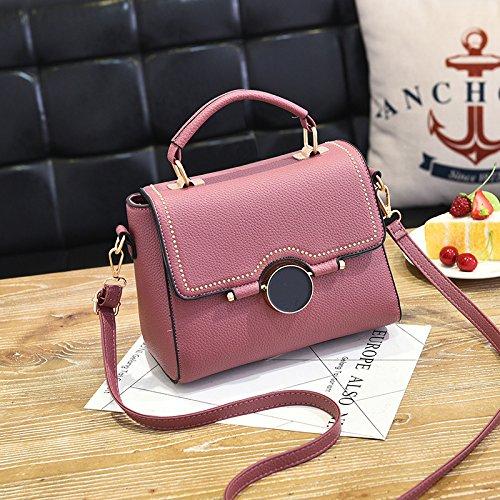 LiZhen Ms. pacchetti per autunno e inverno da piccolo pacchetto nuova marea coreana borsetta elegante e semplice pacchetto ragazza selvaggia borsa Messenger, grigio Rosso di gomma