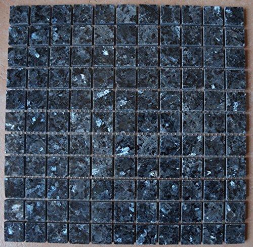 Granit Mosaik Matte Blue Pearl 30x30 cm 8 mm poliert Fliesen -