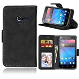 Cozy hut Per Alcatel One Touch pixi3 (4.0 Zoll) Nero Custodia ,[Retro] [Matte] Modello Design Con Cinturino da Polso Magnetico Snap-on Book style Internamente Silicone TPU Custodie Case in pelle Protettiva Flip Cover Per Alcatel One Touch pixi3 (4.0 Zoll) - nero opaco - COZY HUT - amazon.it
