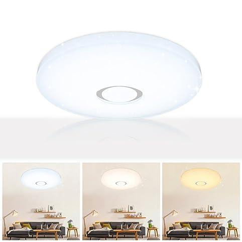 VGO® 50W LED Deckenleuchte Sternenhimmel Deckenlampe Mordern Wohnzimmer  Deckenbeleuchtung Badezimmer Geeignet 3in1