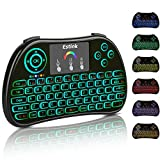 Mini Wireless Keyboard Backlit Remote H9 2.4Ghz Touchpad Mouse Combo for PC, PAD, Smart TV, Google Android TV Box, Xbox 360, PS3/4, Raspberry Pi 3, HTPC, IPTV [2017 Newest] (P9)