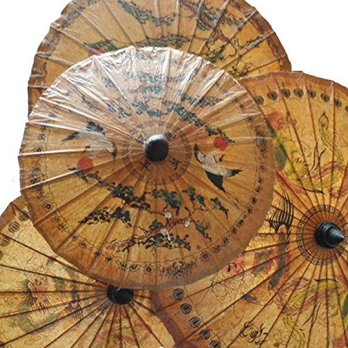dollbling 57,9cm Druck handgefertigt geölt Papier Regenschirm 1(zufällig ()