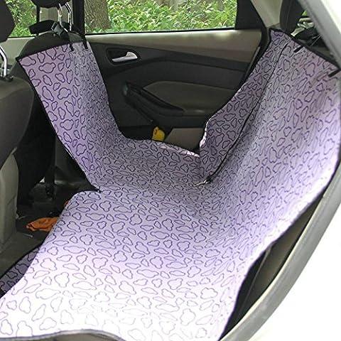 Cubierta de asiento de perro mascota viaje barrera y cinturones de seguridad con anclajes de asiento ajustable abierto impermeable , rear simple purple clouds