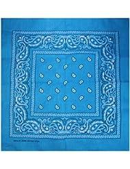 Lot de 12 Bandanas avec motif Paisley original en Turquoise