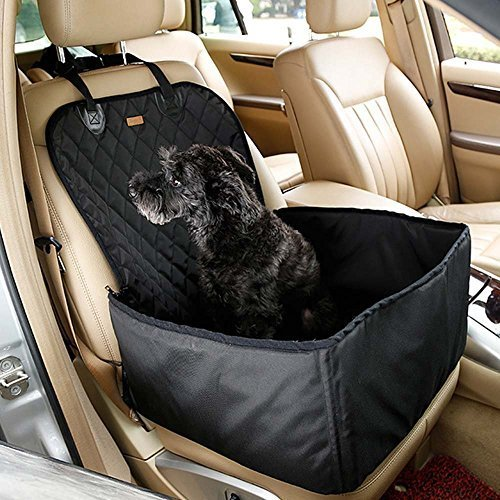 kisspet-2-in-1-pet-dog-car-supplies-thick-waterproof-single-front-seat-pet-car-mat-black
