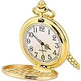 Orologio da tasca, Ciondolo collana orologio da taschino analogico liscio classico 3Colors con catena(#3)