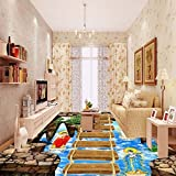 Weaeo Gehweg Showroom Wohnzimmer Sky Bridge 3D, Selbstklebend Home Decoration Rutschfeste Bodenbeläge Tapeten Wandbild-280 X 200 Cm