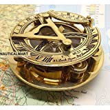 Fascinating Sundial with Compass Watch Engraved & Engraved Vane. 3 cm
