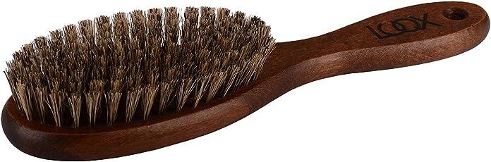 LUQX Haarbürste Spezial mit super soften Wildschweinborsten - Auskämmbürste für extrem dünnes, feines Haare