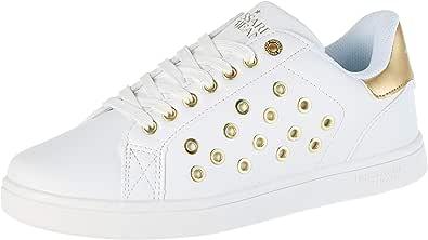 Trussardi Jeans Sneaker Ecoleather/Eyelet, Scarpe con Lacci Donna