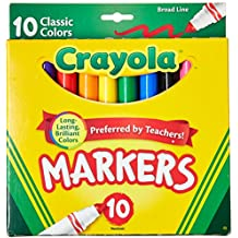 Crayola Classic Colors Broad Line Markers,10 Count (Pack of 6)