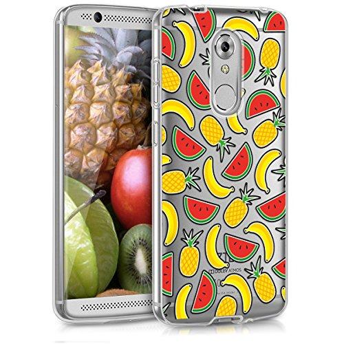 kwmobile Crystal Case Hülle für ZTE Axon 7 Mini - Backcover aus TPU Silikon für Handy mit Früchte Mix Design - Schutzhülle klar in Gelb Rot Transparent
