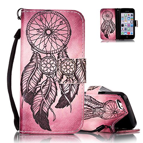 iphone-5c-case-iphone-5c-wallet-cover-aeequer-retro-campanula-feathers-drawing-embedded-magnetic-wit