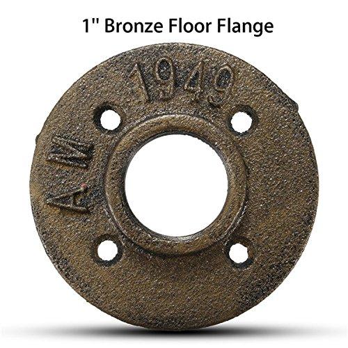 cococina 1Inch accesorios de tubería de hierro roscada suelo brida montado en la pared brida
