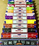 Genuine SATYA SAI BABA - NAG CHAMPA VARIETY MIX 12 X 15G BOXES OF INCENSE, INCLUDES NAG CHAMPA, CELESTIAL, MIDNIGHT, PATCHOULI FOREST, SANDALWOOD, SUNRISE, ROMANCE, BLESSINGS, FORTUNE, JASMINE BLOSSOM, SUPER HIT AND DRAGON BLOOD
