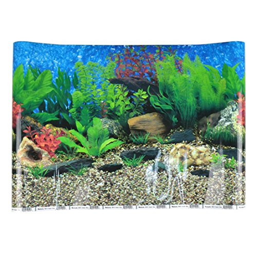 zhaoke Blue Sea Aquarium Hintergrund Ocean Landschaft Poster Fisch Tank - Ocean Fish Tank