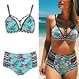 wiffe Bikini Set Hohe Taille Badeanzug Frauen Push Up Badebekleidung Sexy Print brasilianisches Beach Badeanzug xl Siehe Bild