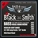 Black Smith 34 inch 32-130 Coated Set of 6-String Electric Bass Guitar Strings