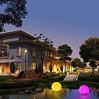 Luces Solares, Luz Solar Jardín, Kealive Lámparas Solares Led, Lluminación Exterior 8 Colores de Luz Ajustable Impermeable IP67 para Jardín, Césped, Piscina, etc